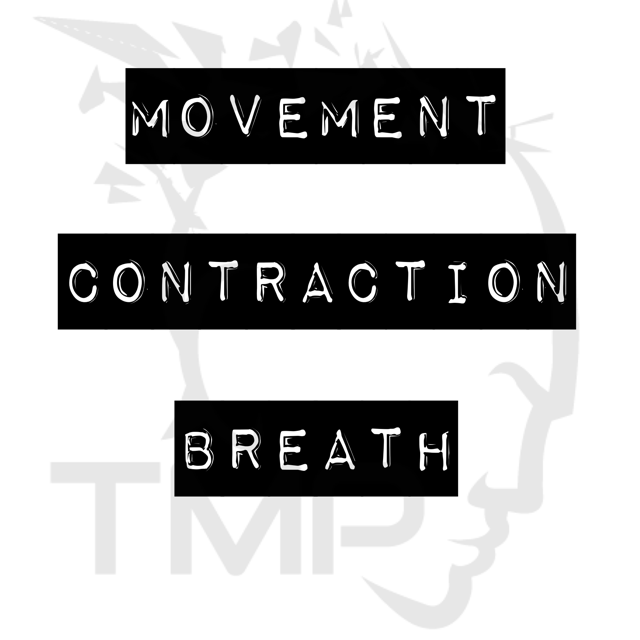 movement, contraction, breath