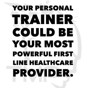 personal trainer as first line health care provider
