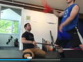 ACL recovery training for football player