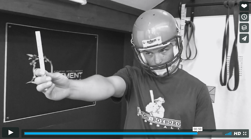 Vision training for football player