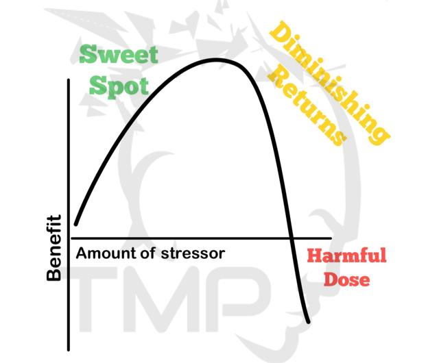 sweet spot. diminishing returns. harmful dose