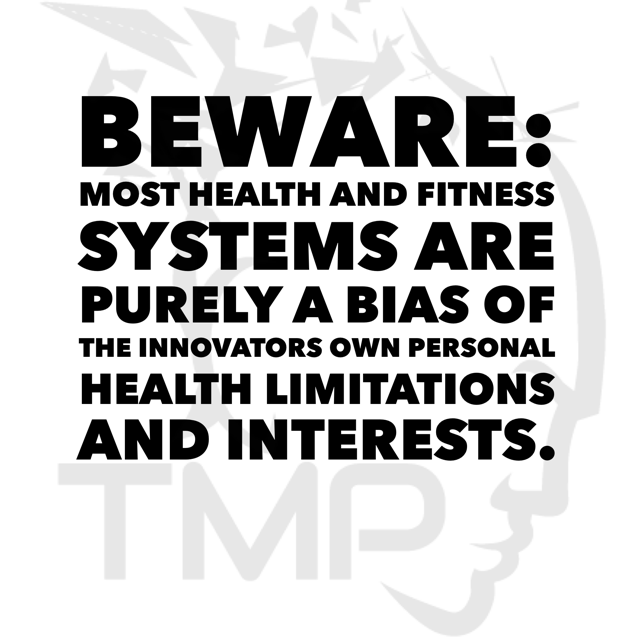 beware- most health and fitness systems are biased