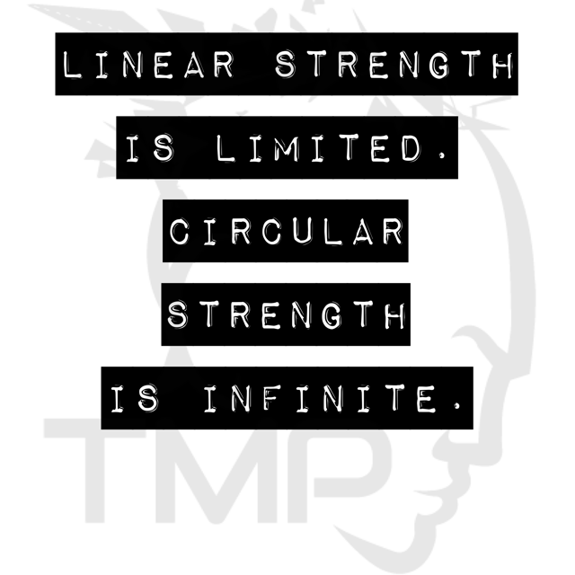 linear strength is limited, circular strength is infinite