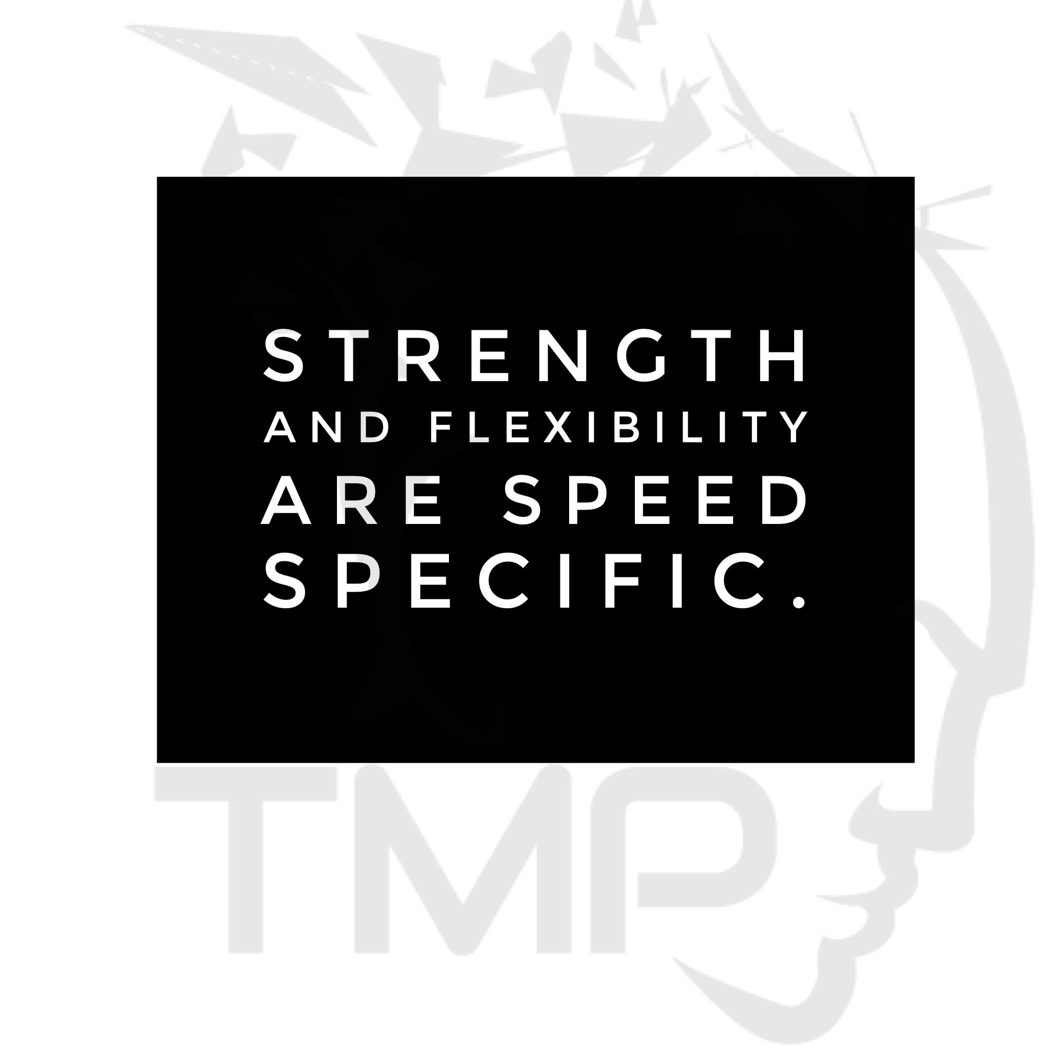 strength and flexibility are speed specific